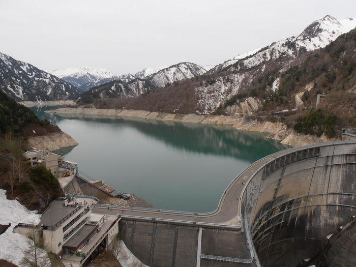 Dam in alpine route. japan
