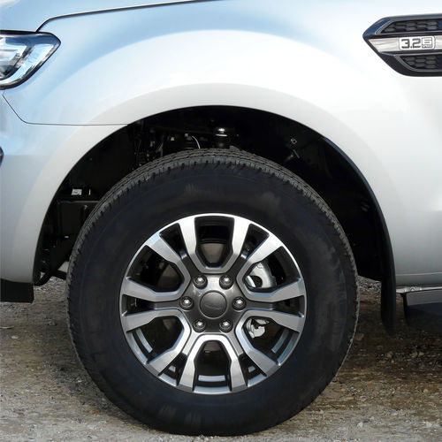 Robustness Power Aluminium Alloy Front Wheel Off-road Vehicle Front Part 3.2 Aisle Ford Ranger Close-up Metallic Color Tire Wheel Dirty Close-up