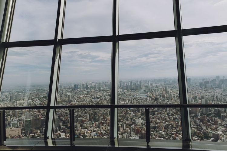 Endless city. Architecture City Cityscape Japan The Graphic City Tokyo Metropolis Skytreetokyo Through Glass Through The Window Window Window View