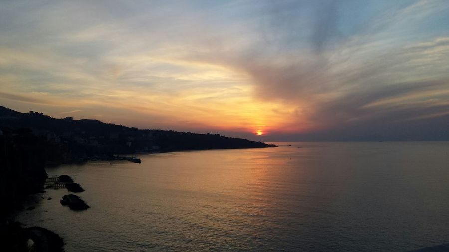 Sorrento Nofilter Sea And Sky Tramonto Sunset First Eyeem Photo