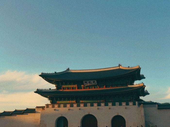 Gwanghwa-mun Culture Assets Seoul, Korea Built Structure Architecture Building Exterior Sky Religion Building No People