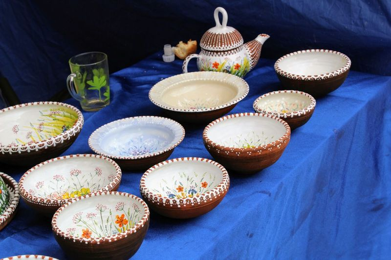Blue Cupcake Day Dessert Festival Of Ceramics And Clay Toys Grandfather Filimon's Tales Food Food And Drink Freshness High Angle View Indoors  Indulgence No People Odoev Ready-to-eat Sweet Food Table Temptation Unhealthy Eating