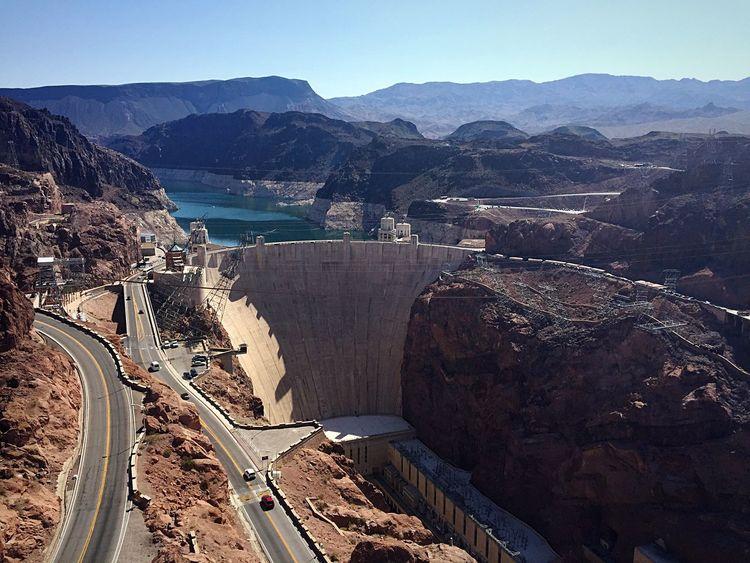 Hoover Dam Arizona Nevada USA Great Building Enyoing Life Las Vegas Lake View Lake Mead Traveling