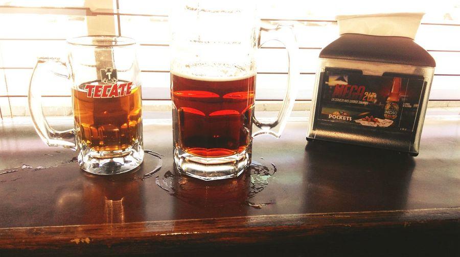 Drinking Beer Tecatelight Beers ❤ Relaxing Time Enjoying Life