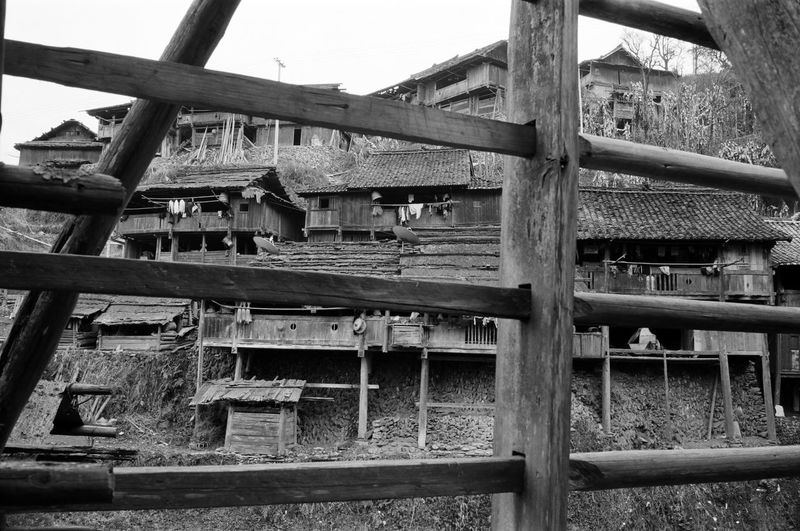 Close-up of old construction site