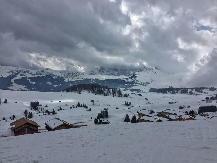 Snow Winter Sky Weather Cold Temperature Mountain Cloud - Sky Nature Landscape Outdoors Beauty In Nature Scenics No People Architecture Day Range Shades Of Winter
