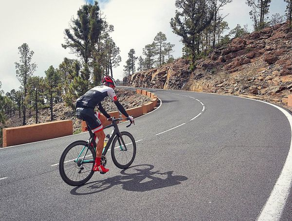 Mountain Pass Bicycle Cycling Tree Motion People One Person Outdoors Headwear Competitive Sport Young Adult Sports Race Adult Adults Only Day Tenerife Rider