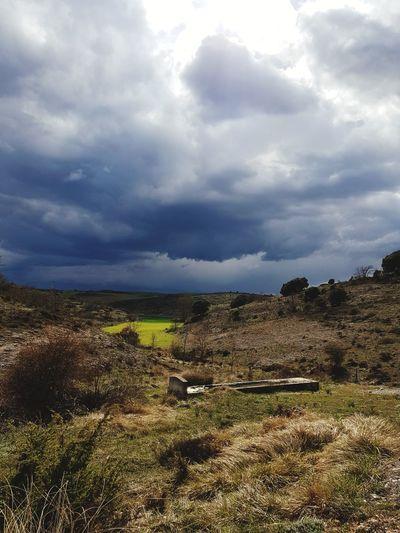 Storm Cloud Rural Scene Sky Landscape Cloud - Sky