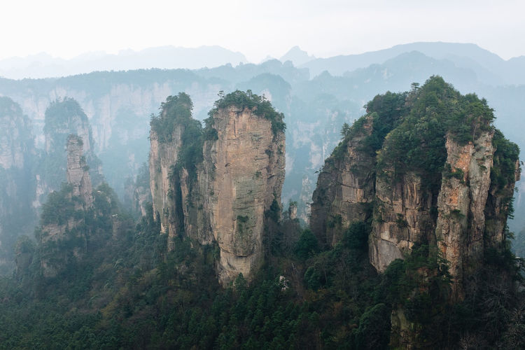 Zhangjiajie, China USESCO and Avatar movie location ASIA Avatar Historical Building Hunan National Park Rock Supernatural WuLingYuan Chinese Discovery Explorer Fantasy Forest Landmark Landscape Location Mountain Mountain Range Mystical Nature Outdoors Scenics - Nature Tourism Tree Zhangjiajie