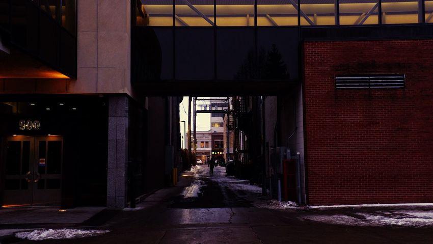 QVHoughPhoto FujiFilmX100 Fargo Northdakota Alley Cityscapes Alleyway Urban1 Snow