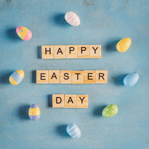 Happy Easter Day Background Close-up Day Easter Easter Egg Egg Happy Message No People Outdoors Pastel Retro Season  Springtime Text Vintage