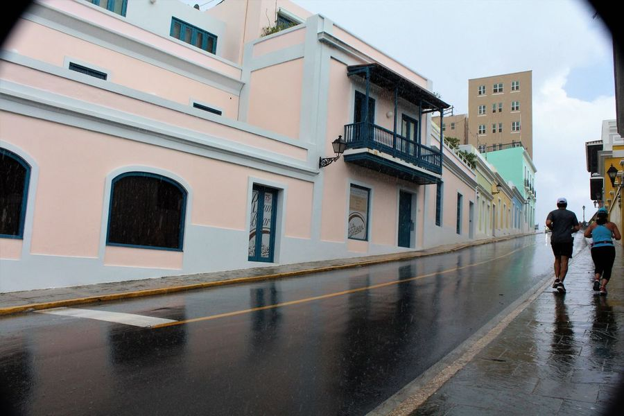 Runners in the Rain Old San Juan Puerto Rico Rainy Days Runners Architecture Building Building Exterior Built Structure City Day Men Nature Outdoors People Running Rain Rainy Season Real People Reflection Sky Street Travel Destinations Walking Water Wet Wet Street Women Rainfall Historic Exterior