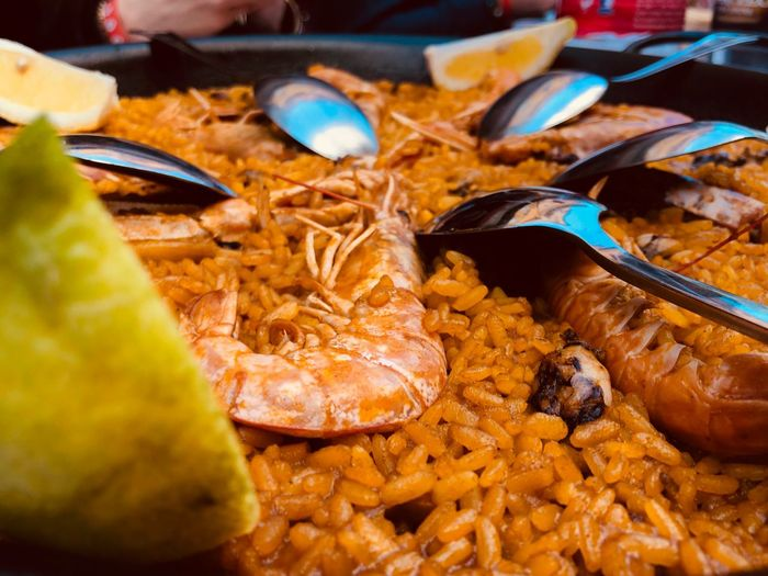 Paella a Valencia PaellaValenciana Spain ✈️🇪🇸 València Paellas Food Food And Drink Ready-to-eat Freshness Serving Size Healthy Eating Still Life No People Close-up Indoors  Eating Utensil Seafood Wellbeing Kitchen Utensil Spoon Meat Table Indulgence Plate Meal Small Business Heroes