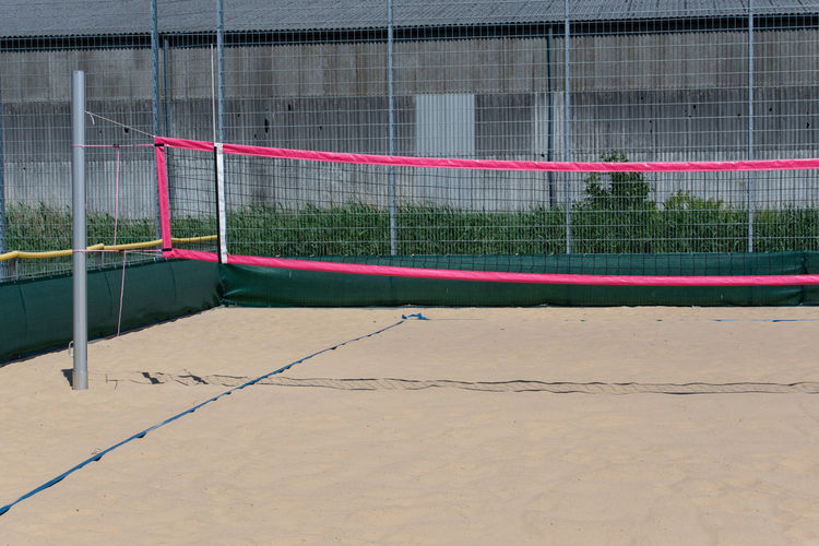 Net on volleyball court