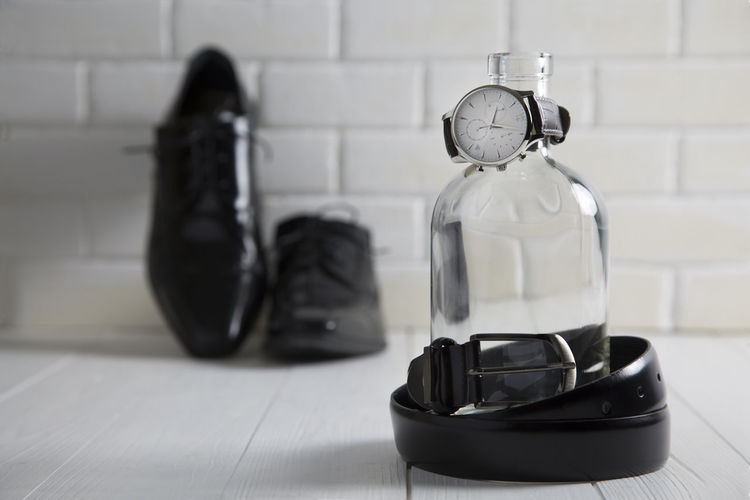 Accessories Absence Black; Close-up Day Empty Fashion Flooring Focus On Foreground No People Selective Focus Shoes Shoes ♥ Still Life Wristwatch