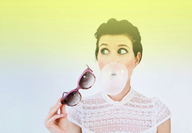 Bubble up! Portrait Headshot Portrait Of A Woman Color Portrait EyeEm Best Shots EyeEm Gallery The EyeEm Facebook Cover Challenge Colors Enjoying Life Eye4photography  Minimalism Colorsplash Elégance Pastel Colors Close-up TCPM