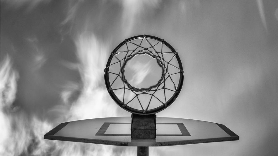 Ball Basketball - Ball Basketball - Sport Basketball Hoop Circle Close-up Cloud - Sky Day Design Directly Below Focus On Foreground Geometric Shape Low Angle View Nature Net - Sports Equipment No People Outdoors Shape Sky Sport Sports Equipment