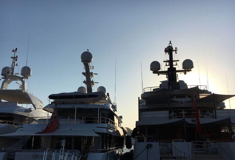 Yatchs Yatch Marine Silhouette Sardinia Sardegna Italy