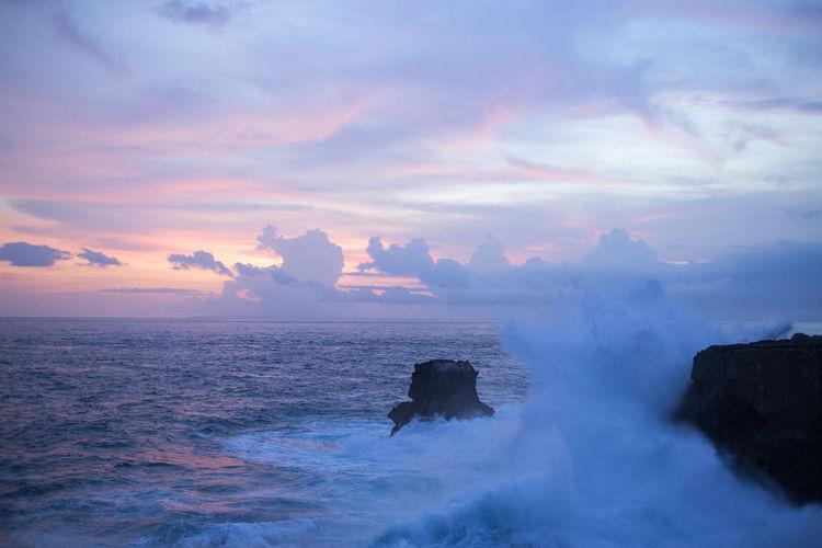 Beach Cloud - Sky Dramatic Sky Horizon Over Water Horizontal Landscape Nature No People Outdoors Scenics Sea Sky Sunset Wave