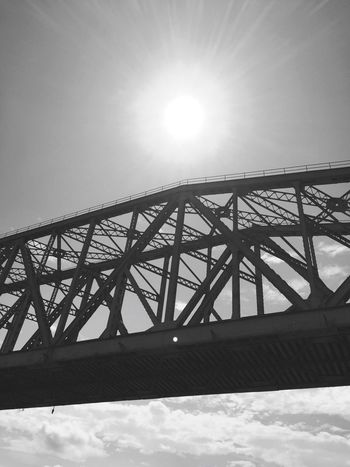 Sun Bridge Clear Sky Sunlight Bridge - Man Made Structure