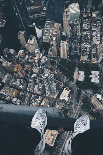 dont look down.. (please do) City Downtown Helicopter Manhattan New York Adidas Aerial View America Architecture Bridge Building Exterior City Cityscape Day Downtown District Flynyon High Angle View Outdoors Park Shoes Skyscraper Sneakers Summer Urban Yeezy