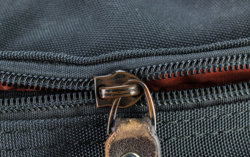 Close-up of black bag