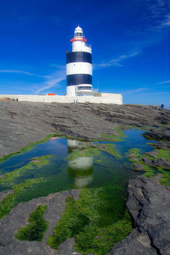 Hook Head, Ireland Lighthouse Architecture Building Tower Water Built Structure Beach