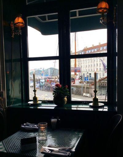 Copenhagen, Denmark Window Restaurant Food And Drink Hygge
