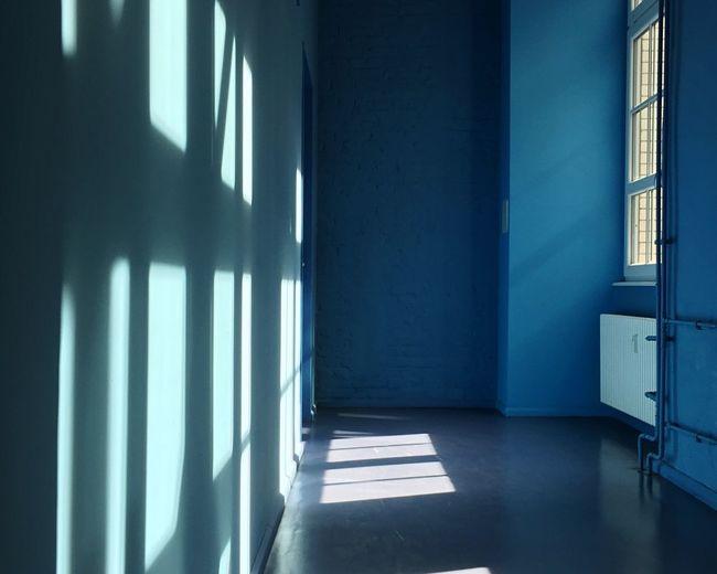 Shadow of window in darkroom