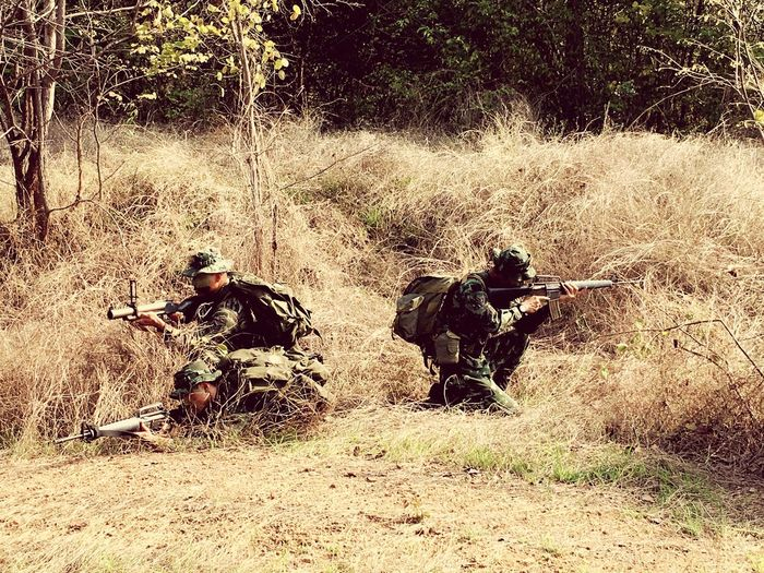 Combatant Warrior Soldier Sand Day Outdoors Real People Togetherness Shadow Nature People Two People Men