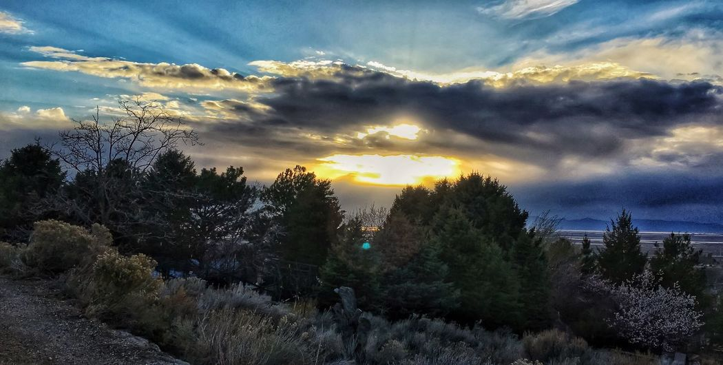 Sunset Through The Clouds Clouds And Sky Clouds Sunset #sun #clouds #skylovers #sky #nature #beautifulinnature #naturalbeauty #photography #landscape Landscapes With WhiteWall Iphoneonly Utah