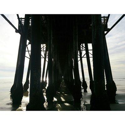 Symmetry. Oceanside Pier DowntownYo Symmetry DarkNiceDayNofilterPotdBeachBeachVisuals