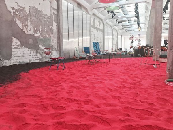 Indoors  Built Structure Architecture Red No People Day Milan Milan Design Week 2017 Marni Design