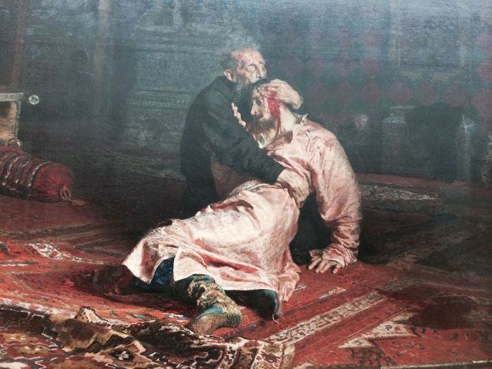 Painting of Ivan the Terrible with his dead son Ivan 16 November 1981 painted by Ilya Repin (1885), Hermitage (1852) City Cityscapes Day Hermitage Museum Historic History Ilya Repin Indoors  Ivan The Terrible! Moscow Museum No People Painting Russia Tourist Attraction