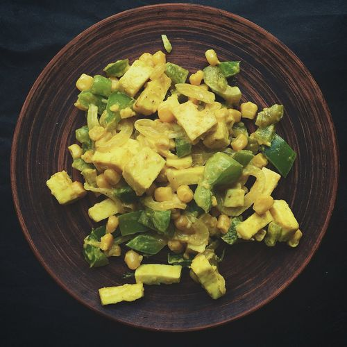 Cheese Chinese Chinese Food Cooking Corn Curcuma Dish Food Pepper Plate Souce Spices Tofu Tofu Cheese Vegan Vegetables Vegetarian