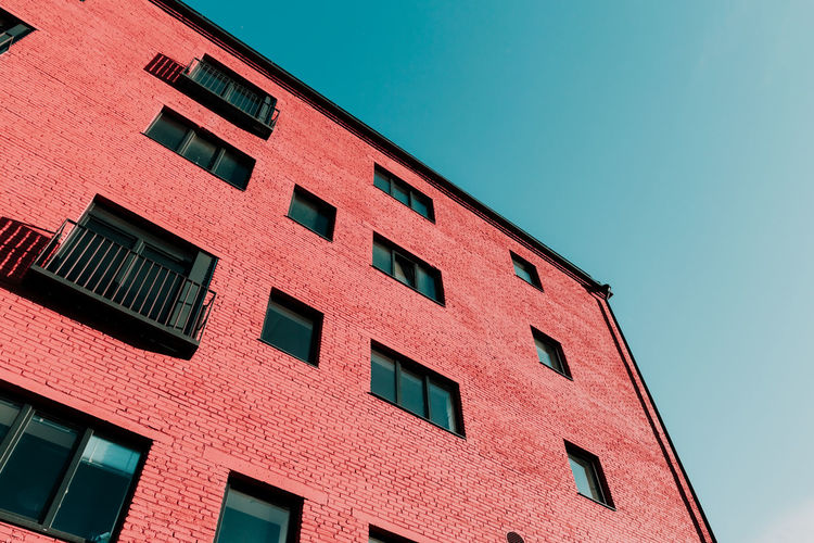Pink House Pastel Wall Window Background Architecture Color Minimal Bike White Building Vintage Design Colorful Exterior Outdoor Classic Decoration Beautiful Urban Style Home Minimalist Sky Below Clouds Modern Façade Coral Art Creative Photography Concept Fashion Blue View Travel Geometry Form Details City Windows