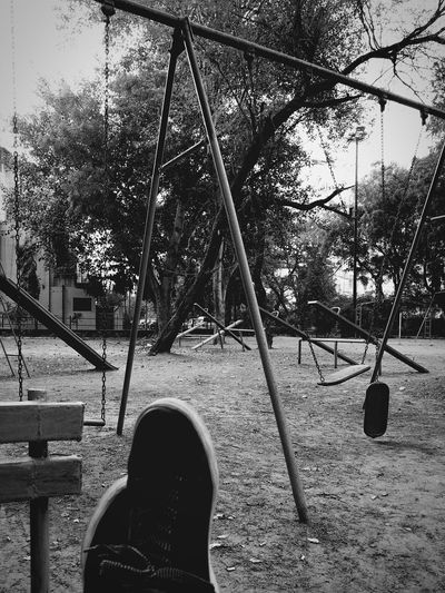 Black & White Dark Alone Peace And Quiet Swings Lonelypark Justyouthinkingabouttheworld Deep Thoughts Timeteachesyouthedepthofeverythg