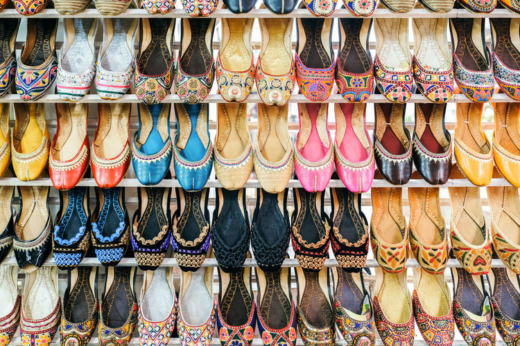 Pakistan Ladies Shoes Retail  Large Group Of Objects For Sale Store Choice Variation Arrangement Market No People In A Row Abundance Sale Retail Display Multi Colored Shoe Side By Side Business Market Stall Fashion Indoors  Order Consumerism Personal Accessory