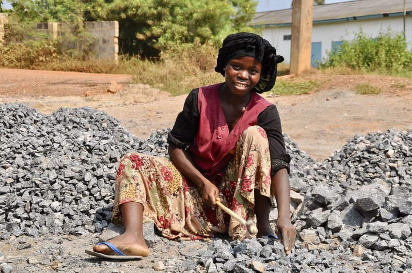 Faces Of Africa Developing Country Earn Money  Poverty Social Issues Female Portraits Ghana Road Construction Road Works Woman Working Working Hard Africa African Beauty Female Labor One Person Outdoors Pebble Pebble Stones Real People Road Building Shortening Sitting Woman Portrait Young Adult Young Women