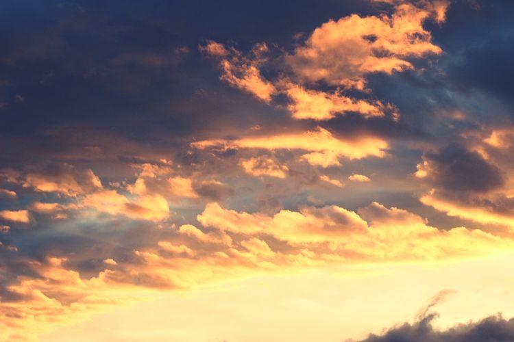 Sunset Cloud Light And Shadow Magic Hour 送って もらえば。。。