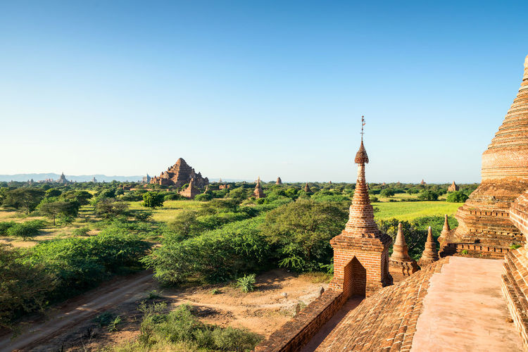Bagan, view of Dhammayangyi Temple Sky Architecture Built Structure Travel Destinations Clear Sky Building Exterior History Plant The Past Religion Nature No People Tourism Outdoors Belief Building Myanamar Burma Bagan Temple Paya Asian  Culture Photo Sunny