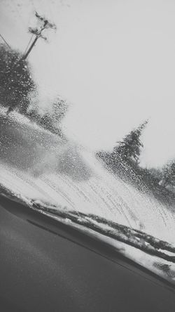 Black & White Black And White Dashcam Driving Driving Through Snow Impaired Driving Sight Impaired Vision Landscape On The Move On The Road Snow Day Snowy Telephone Pole Trees Windshield Windshield Wipers Showcase: February Winter Wonderland Winter