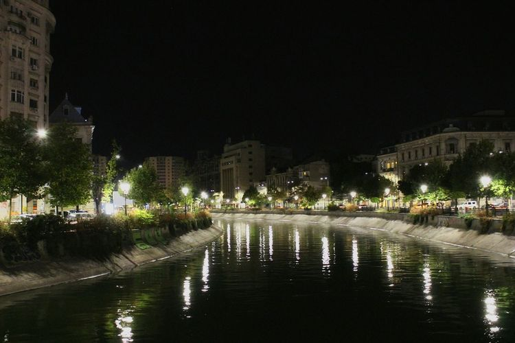 Bucharest night view of Dambovita. Bucharest, Romania Night Dâmbovița River Outdoors No People Night Lights Reflection Historic Downtown Architecture Urban Exploring Bucharest From My Perspective Old Town Traveling The World