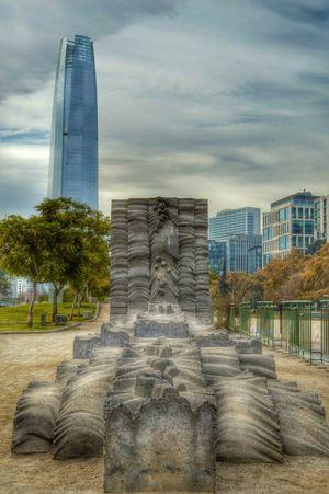 Costanera center, parque de las esculturas HDR Costanera Center Santiago De Chile