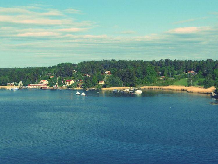 Stockholm Archipelago Water Clouds And Sky Landscape