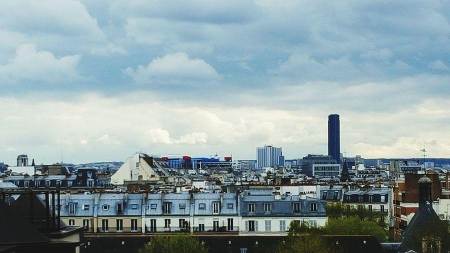 Travel Destinations No People Day Cityscapes Architecture Paris, France  Sky Pompidou Center Pompidou