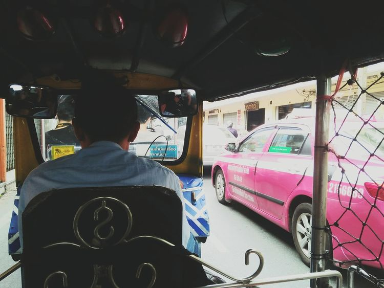 One Person One Man Only Taxi Travel Driving City Tuktuk Driver Car Transportation Tuk Tuk Tuk-tuk By Phone Rear View Mode Of Transport Adult Adults Only Only Men Street People Land Vehicle Occupation Day Mature Adult Men