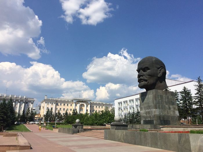 the monument to Lenin at Ulan-Ude Buryatia, Russia Head Sculpture EyeEm Selects Russia Lenin Ulan-Ude Siberia Memorial Sculpted
