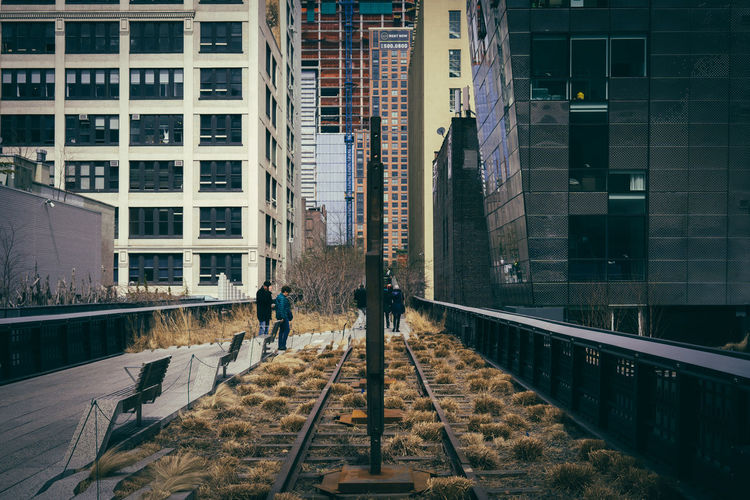 Part of the disused railway line at The High Line in Manhattan, New York City, New York, USA. Architecture Building Exterior Built Structure City City Life Cityscapes Day Lifestyles Manhattan New York New York City Outdoors Thehighline USA