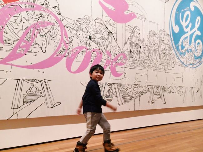 Just a kid walking around looking at modern art. Art Modern Joy Fun Museum Child Model Model Childhood Drawing - Activity Sketch Full Length Smiling Children Only Child First Eyeem Photo